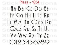 #1054 CUSTOM WINDOW GRAPHIC Decal Text Sticker Name Vinyl Graphic Letters Plaza