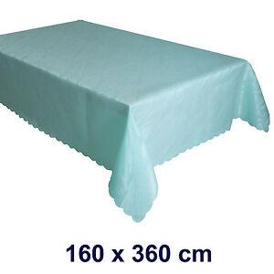 DAMAST Tischdecke Marmor-Design Jacquard Tafeltuch Tischtuch ECKIG 160 x 360 cm