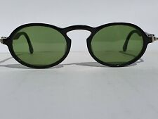 Vintage Ray Ban Gatsby Deluxe DLX Style 1 Black Green Oval W1525 B&L Sunglasses