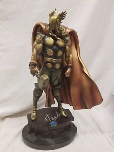 BOWEN SIGNED By STAN LEE THOR STATUE FAUX BRONZE MUSEUM  AVENGERS Bust HULK