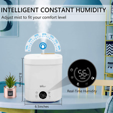 Small 4L Smart Adjustable Air Humidifiers Cool/Warm Mist Essential Oil Diffuser