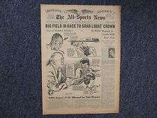 1947 The ALL-SPORTS NEWS/Sporting News Insert(JOE LOUIS/JOE WALCOTT/STAN MIASEK