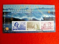 NAVIGATORS Australia 1999 IMPERFORATE  CTO MINIATURE SHEET TASMAN,COOK,FLINDERS