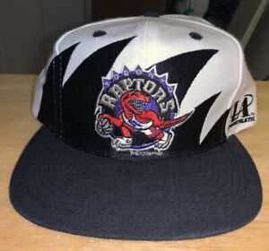 Vintage Toronto Raptors Logo Athletic Shark Tooth Snapback Hat Cap