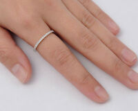 USA Seller Eternity Thin Band Rings Sterling Silver 925 Best Deal Jewelry Size 7