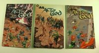 Lot of 3 DC Comics JLA Act of God 1, 2, 3 Complete Set TPB 2000 (VF-)