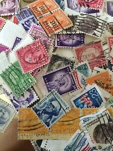 100 U.S. Postage Stamps, Used, 1880 - 2000, Rare, 3.5 Cents A Stamp! US stamp