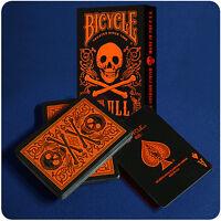 Bicycle Skull Deck - Orange - Playing Cards - Magic Tricks - New