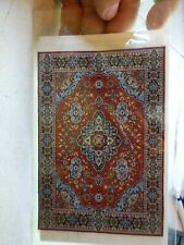 "Dollhouse Miniature Beautiful Woven Turkish Rug 6"" x 9"" ~ M110-220"
