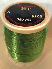 Gudebrod Rod Building Thread 1 Oz Spool LIME GREEN # 9105 HT Metallic Sz A or D