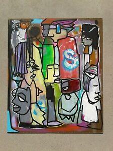Original hand painted art work dr.nuse89 abstract graffiti folk raw outsider🤖✍✌
