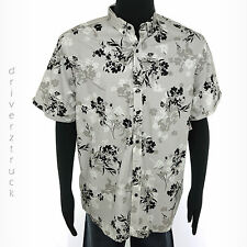 HOWE Young Men's XX-LARGE FLORAL & STRIPE SHIRT Short Sleeve BUTTON FRONT 2XL