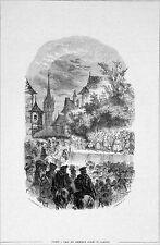 LILLE : ENTRÉE des ARCHIDUCS ALBERT & ISABELLE (1598) - Gravure du 19e siècle
