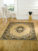 Element Lancaster Traditional Classic Persian Design Beige Rug in 7 sizes Carpet