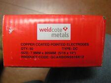 """5/16"""" x 12"""" Carbon Gouging Rods Copperclad DC Electrodes 50pc Weldcote Metals"""