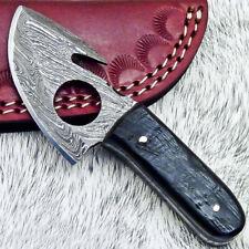 """NEW CUSTOM HANDMADE DAMASCUS 4.50"""" MINI HUNTING KNIFE RAM HORN HANDLE - UT-3659"""