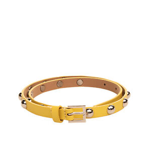 RRP €340 RED VALENTINO Leather Waist Belt Size 75/30 Round Studded Made in Italy