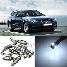 Error Free White 20pcs Interior LED Light Kit for 04-10 BMW E60 E61 M5 525i 535i
