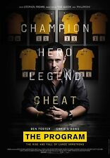 """LANCE ARMSTRONG """"THE PROGRAM"""" 2015 MOVIE PROMO CYCLING POSTER"""