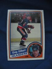 1984/85 O-Pee-Chee R/C Greg Gilbert Islanders card #125 Hockey NHL $1 S&H