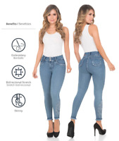 Colombian Push Up Slimming Jeans Hourglass Butt Lifter Fajas Levanta Cola Pants