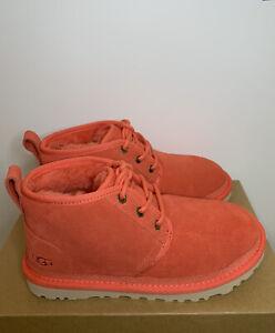New - Women's Ugg Neumel Pop Coral Chukka Boots Size 5