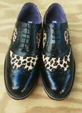 Stacy Adams Brown Leather Leopard Wingtips Size 12
