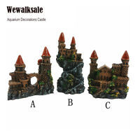 Fish Tank Ornament Resin Gothic Tower Small Medieval Castle Aquarium Decorations