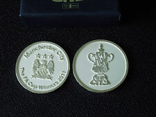 MANCHESTER CITY 2011 FA CUP WINNERS MEDAL IN BLUE BOX