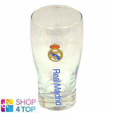 REAL MADRID WORDMARK CREST PINT GLASS OFFICIAL BEER FOOTBALL SOCCER CLUB TEAM