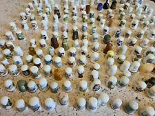 More details for joblot/bundle of 150 + bone china glass etc thimbles various themes
