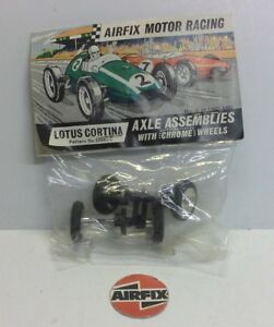 AIRFIX MRRC MOTOR RACING LOTUS CORTINA Axle Assemblies Chrome Wheels 5098LC NEW