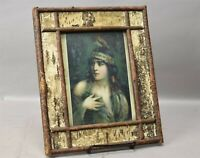 "Antique Adirondack Boule Twig Folk Primitive Wooden Frame c1900s 11"" x 9"""