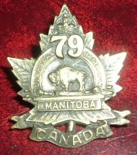 CAP BADGES-WW1 CANADIAN CEF 79 MANITOBA BATTALION 79-2