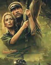 DWAYNE JOHNSON EMILY BLUNT JUNGLE CRUISE AUTOGRAPH HAND SIGNED 8 x 10 WITH COA