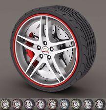 Rim Protector Rings Car Wheel Rims Tire Guard Line Rubber Kabis Korea 8M Red