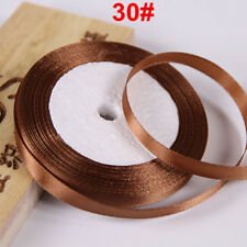 "10mm 22 Meters 3/8"" Satin Ribbon Craft Bow Party Wedding Riband Decor Coffee"