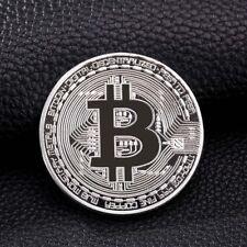 Gold Plated Bitcoin Coin Collectible Physical BTC Coin Art Collection +Case Gift