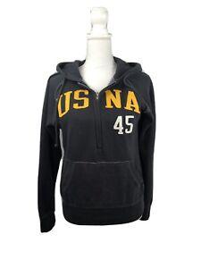 Naval Academy USNA Womens Half Zip Sweatshirt Hoodie Pullover Small Camp David