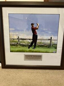 Tiger Woods 2002 US Open Champion Pebble Beach CA 11x14 Photo Framed