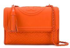 NWT TORY BURCH $428 POMANDER ORANGE SMALL FLEMING CONVERTIBLE SHOULDER BAG
