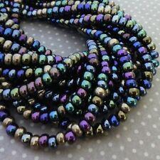 150 beads Czech Glass Beads 4.1mm Heavy Metals Mix SB6-MIX23