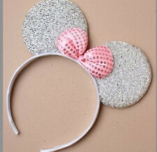 X12 Sparkly Glitter Minnie Mouse Ears - Hen Party Fancy Dress Christmas Black Hot Pink
