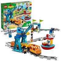 LEGO 10875 DUPLO Buildable Push & Go Locomotive Cargo Train Lights & Sounds Set