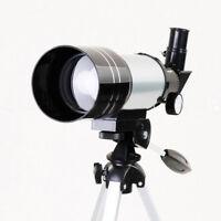 Professional Astronomical Monocular Telescope Silver&Tripod Barlow Lens Eyepiece