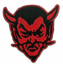 RED DEVIL HORNED iron on/sew on Embroidered Patch Applique DIY (US Seller)