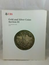 UBS Numismatic Coin Auction Catalog #61, Gold and Silver, Great Reference Manual