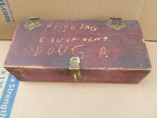 Vintage Youth'S First Fishing Tackle Box, Signed