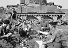 Sherman Tank Crew of 1st Northamptonshire Yeomanry 8x10 World War II Photo 637