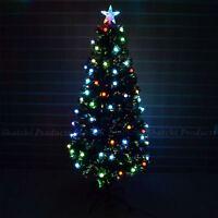 4ft Christmas tree Fiber Optic Pre-Lit xmas tree with Berry LED Lights Christmas